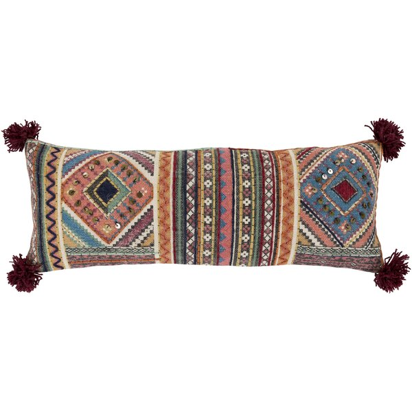 Camryn 100% Cotton Lumbar Pillow by World Menagerie